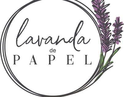 Logotipo Lavanda de Papel