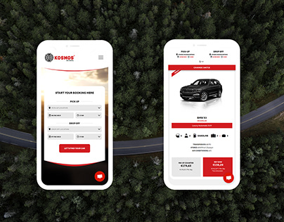 Kosmos Car Rental - Booking website