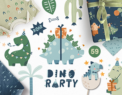 DINO PARTY   SVG collection