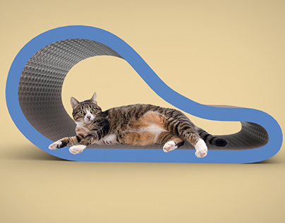 Curved Cat Scratching Lounge