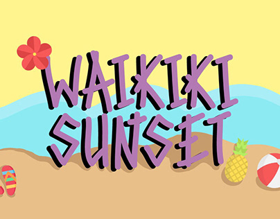 Free Waikiki Sunset Handwritten Font