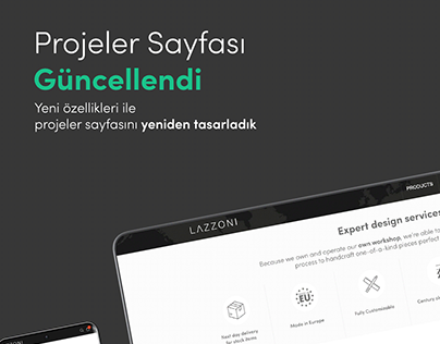 Lazzonı Furnıture Projects Web UX UI Design