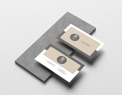 Cartão de visita dos representantes e vendedores