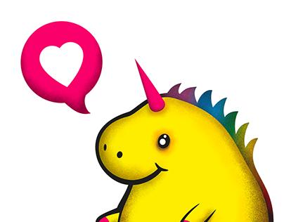Yellow chubby unicorn t-shirt