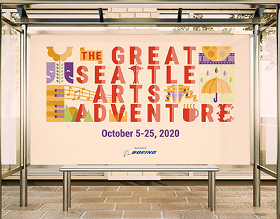 The Great Seattle Arts Adventure Branding