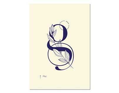Initial G og C - illustration - typografi