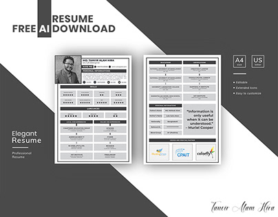 RESUME | FREE AI TEMPLATE DOWNLOAD