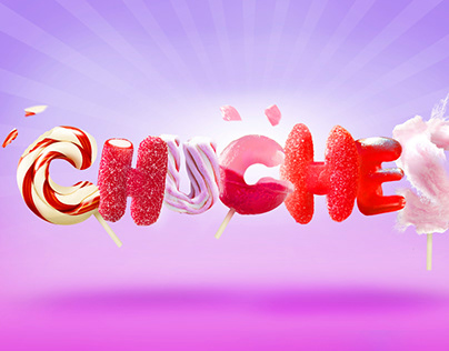 Chuches - Candy typography