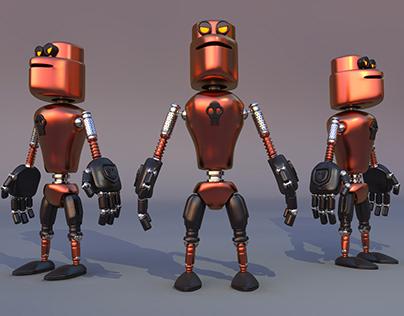 #d robot render in Cinema4D