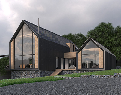 Two-storeyed weekend house 200 m2, parents house 54 m2