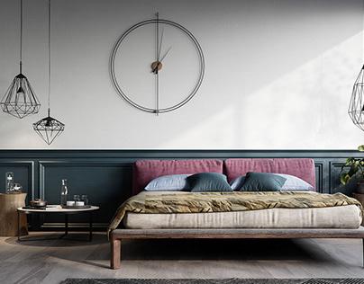 Firenze Bedroom (Italy) - CGI