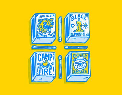 Matches Box - illustration