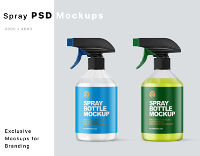 Spray Bottles Mockups