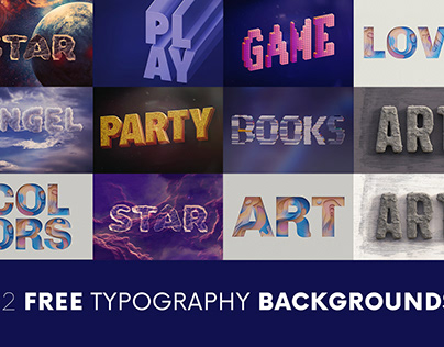 FREE Creative Typography Backgrounds