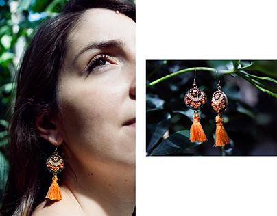 photo campaign for ooliku - hand embroided jewelry