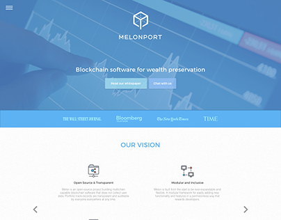 Melonport Blockchain software UI / UX concept work