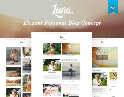 LUNA - Personal Blog Concept