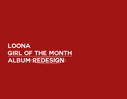 "LOONA ""Girl of the Month"" Album Redesign"
