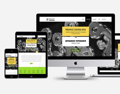 Interface UI Premios Xataka