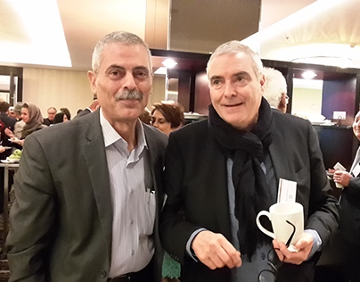 Jihad Awad with Dominique Perrault