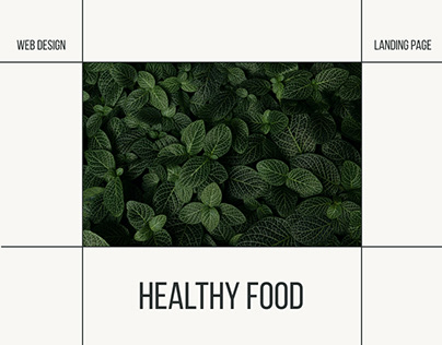 Landing page for healthy food project
