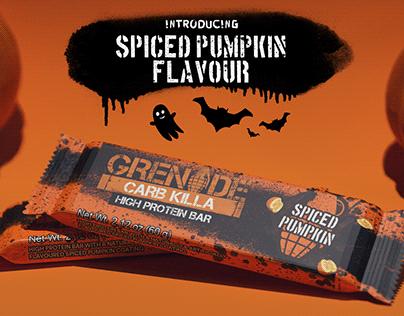 Grenade 'Spiced Pumpkin' Advert