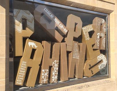 3D type window display