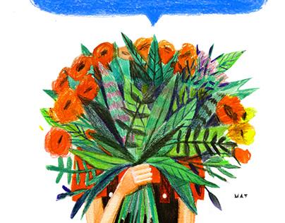 Flower store illustrations