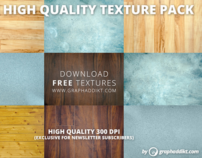 Free high quality texture pack (wood, concrete, corian)