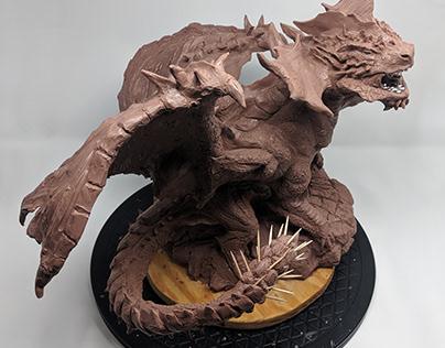 Snowshade Elder dragon Maquette