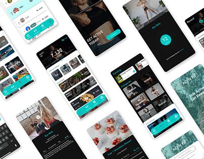 Activ Fit Concept Mobile App