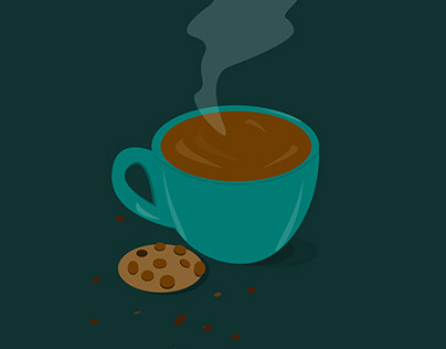 illustration a cup of coffee