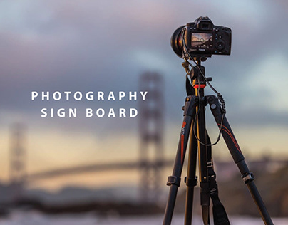 photography sign board