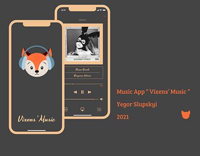 "Music Player ""Vixens' Music"""