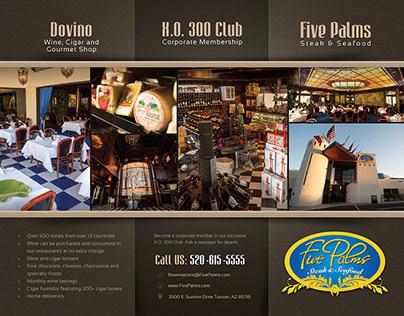 Five Palms Restaurant graphic design (2015)