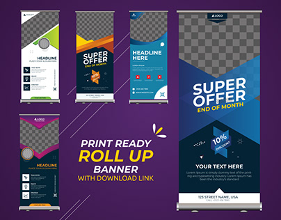 Print ready ROLL UP banner | Pavel_design