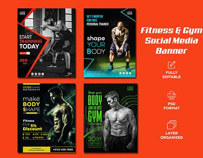 Fitness & Gym I Social Media Post Banner