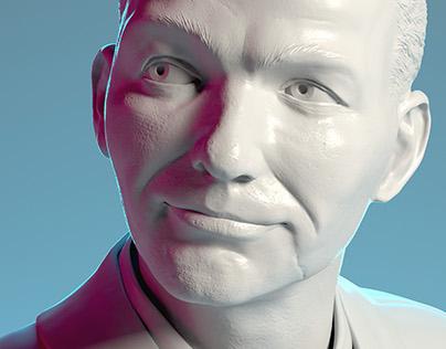 Frank Sinatra - Digital sculpting for 3d printing
