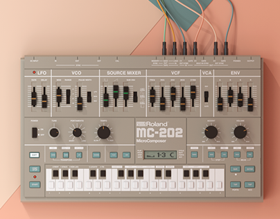 3D Modeled Synthesizers & Audio Equipment