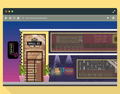Website UI concept for Stock Exchange Bar