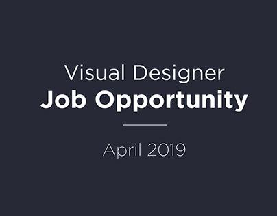 Visual Designer Job Opportunity