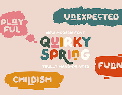 QUIRKY SPRING - Playful Font Family