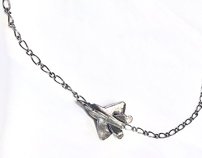 Flying Jet Necklace