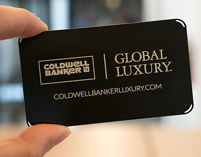 Coldwell Banker Black Metal Business Card