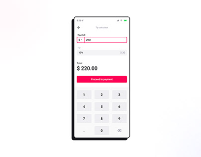Tip calculator | Daily UI 004
