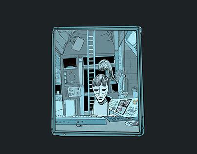 Song Illustration for Projekt Tiefsee