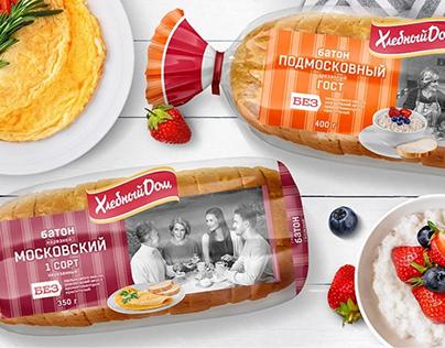 Редизайн линейки батонов бренда «Хлебный Дом»