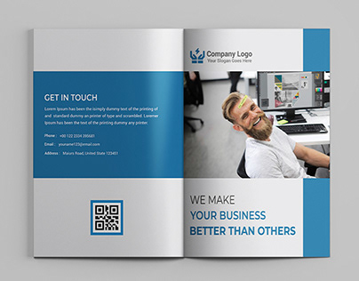 Business Bifold Brochure Title Design
