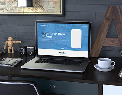 IT Company Website Design Layout