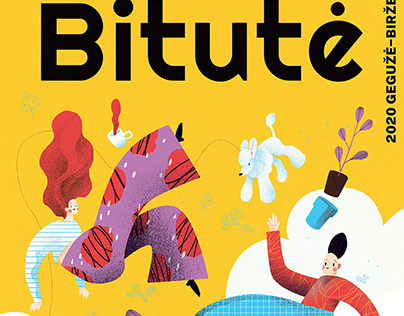 """Illustrations commissioned by youth magazine """"Bitute""""."""